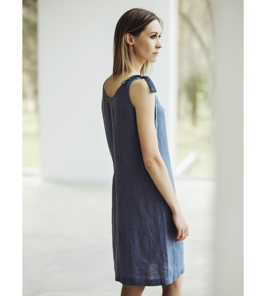 Motumo - Grey Linen Dress at Amberoot (2)