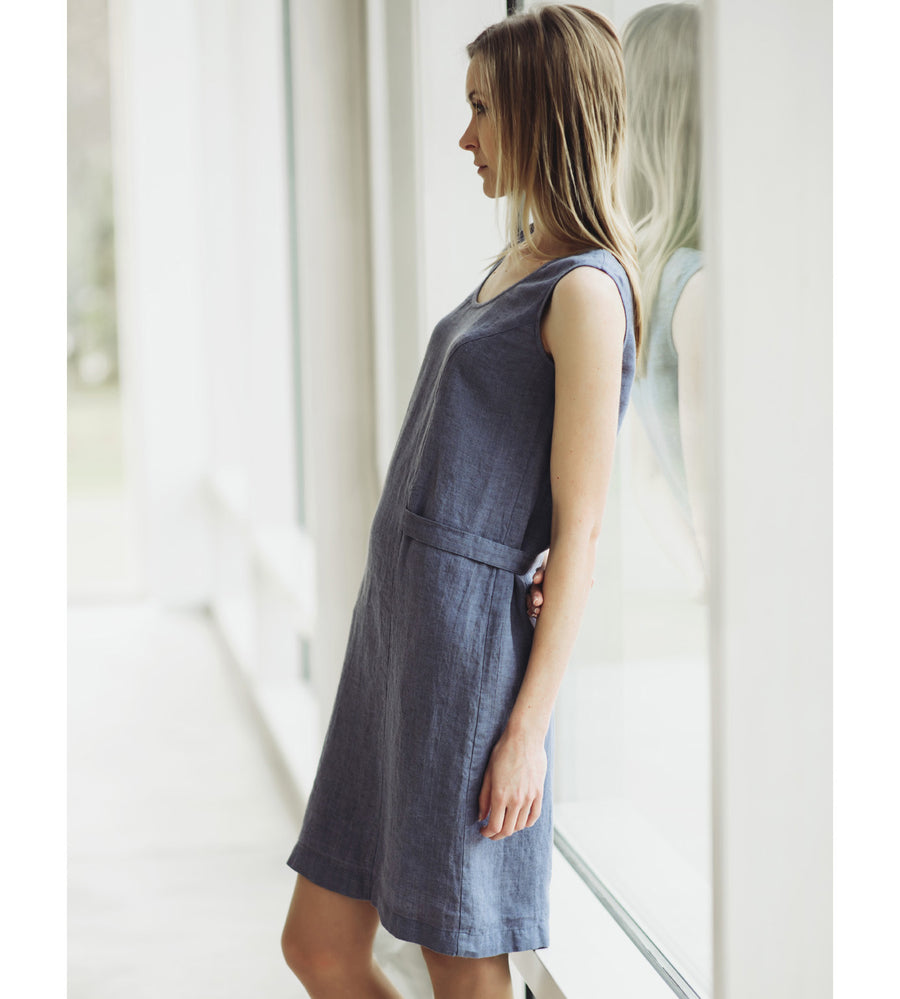 Motumo - Grey Linen Dress at Amberoot (5)