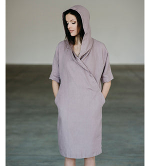 Motumo - Lavender Linen Dress at Amberoot (1)