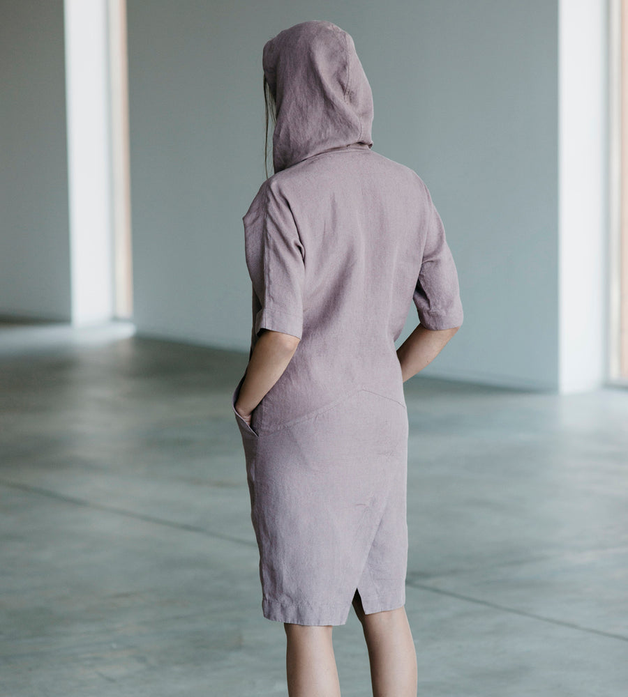 Motumo - Lavender Linen Dress at Amberoot (3)