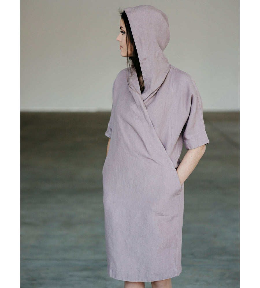 Motumo - Lavender Linen Dress at Amberoot (4)