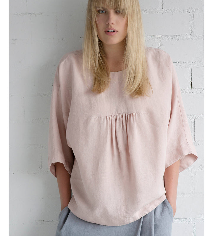 Motumo - Light Pink Ruffle Blouse at Amberoot (1)