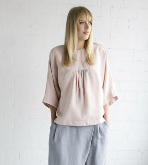 Motumo - Light Pink Ruffle Blouse at Amberoot (2)