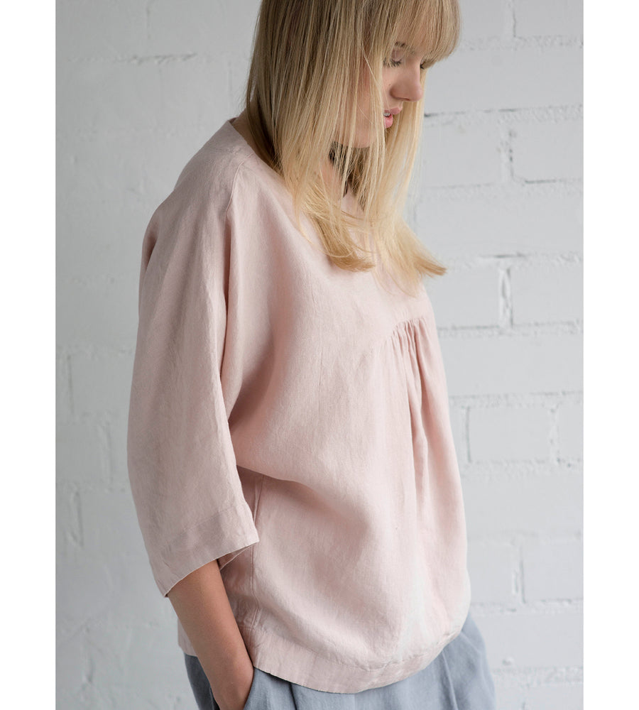 Motumo - Light Pink Ruffle Blouse at Amberoot (4)