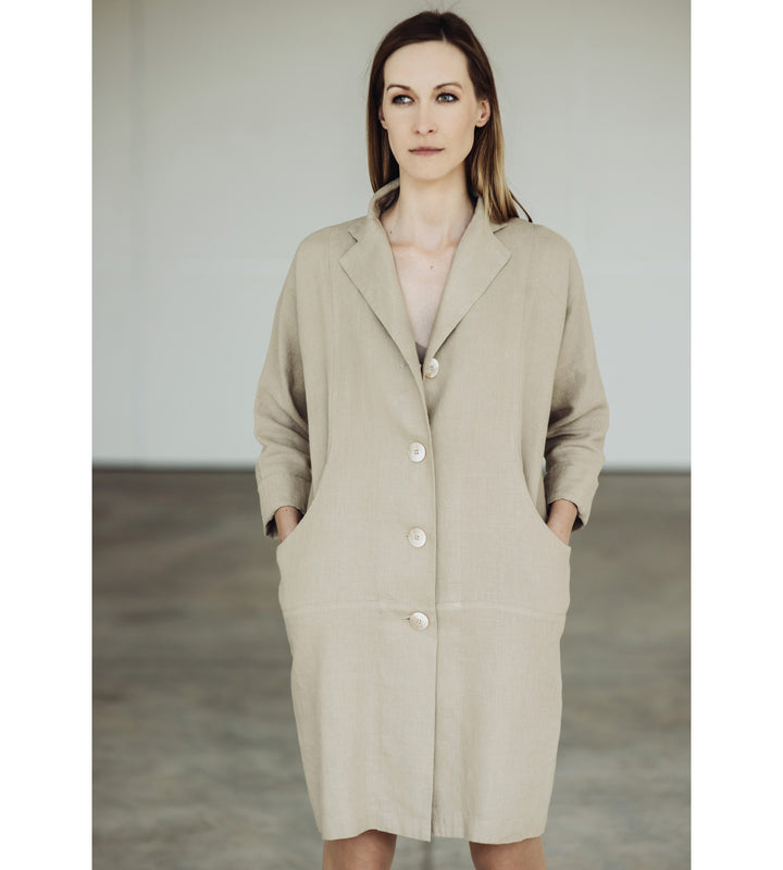 Motumo - Natural Linen Coat at Amberoot (1)