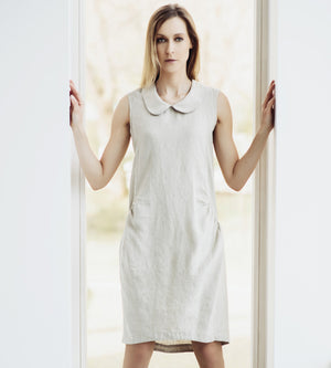 Motumo - Natural Linen Dress at Amberoot (1)