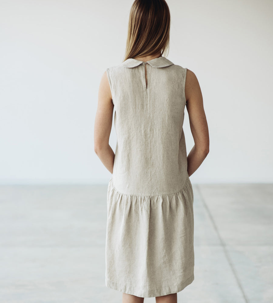 Motumo - Natural Linen Dress at Amberoot (2)