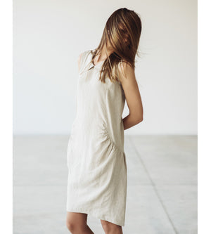 Motumo - Natural Linen Dress at Amberoot (3)