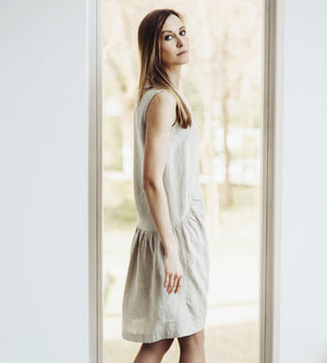 Motumo - Natural Linen Dress at Amberoot (5)