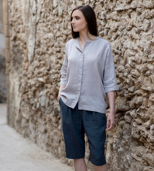 Motumo - Pale Grey Shirt at Amberoot (1)