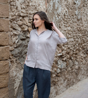 Motumo - Pale Grey Shirt at Amberoot (4)
