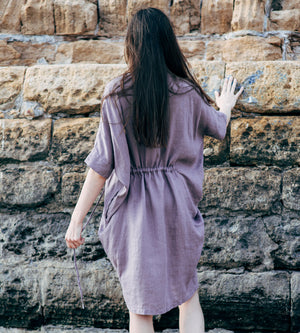 Motumo - Purple Linen Dress at Amberoot (6)