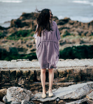 Motumo - Purple Linen Dress at Amberoot (7)