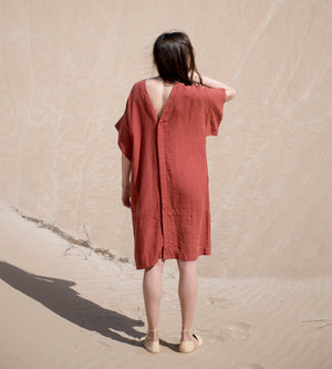 Motumo - Red Kimono Dress at Amberoot (2)