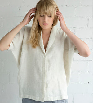 Motumo - White Linen Shirt at Amberoot (3)