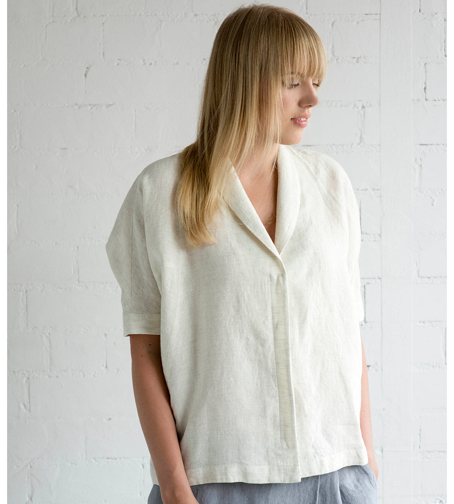 Motumo - White Linen Shirt at Amberoot (5)