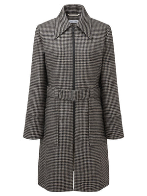 Rescued Sheep Wool Black Belted Coat