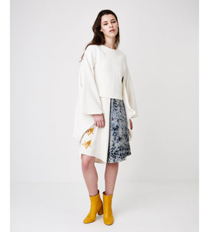 Silvia Giovanardi - Kimono Style Hemp and Organic Cotton Sweatshirt at Amberoot (1)