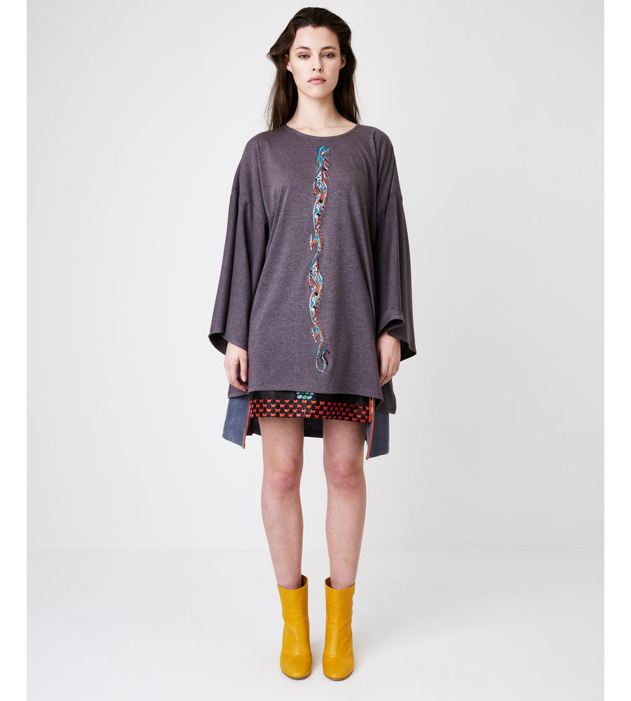 Silvia Giovanardi – Hand Embroidered Milk & Organic Cotton T-Shirt at Amberoot (1)
