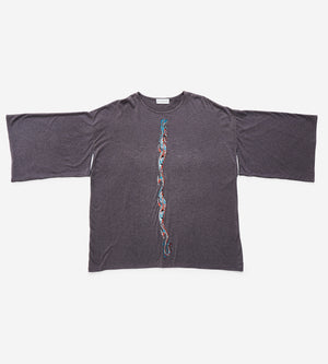 Silvia Giovanardi – Hand Embroidered Milk & Organic Cotton T-Shirt at Amberoot (2)