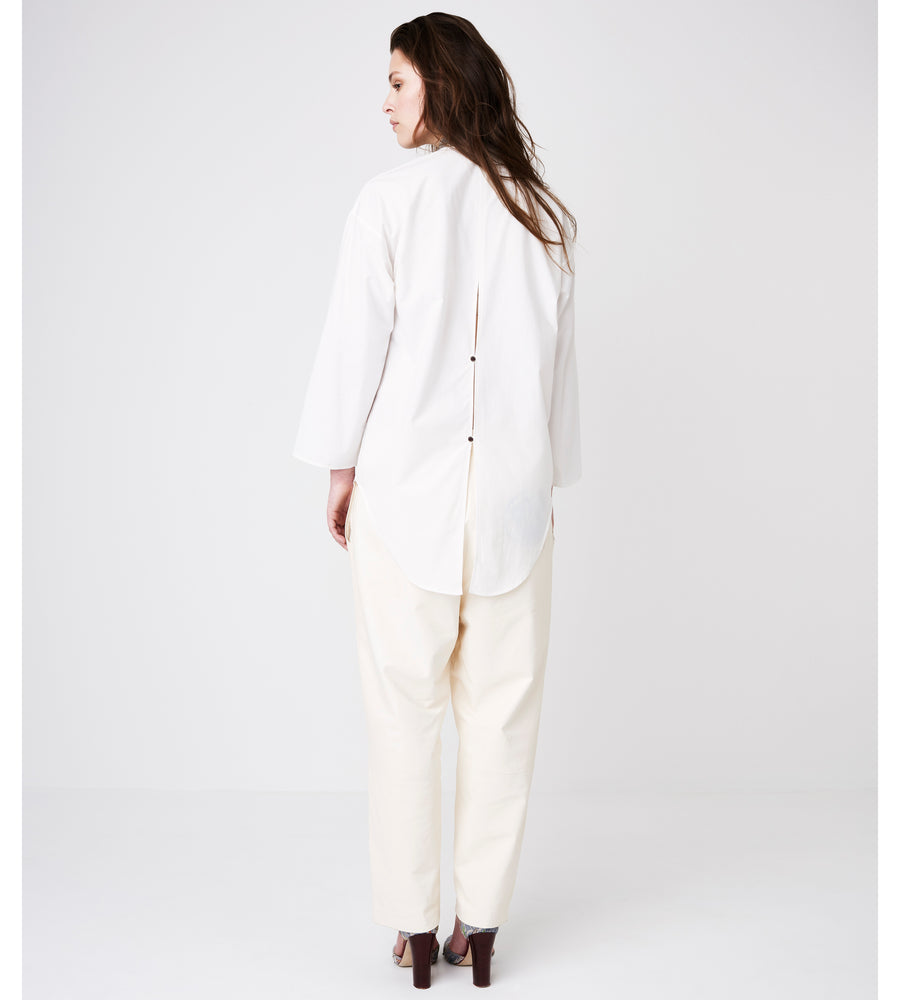 Silvia Giovanardi – Hand Embroidered Organic Cotton & Hemp White Shirt at Amberoot (3)