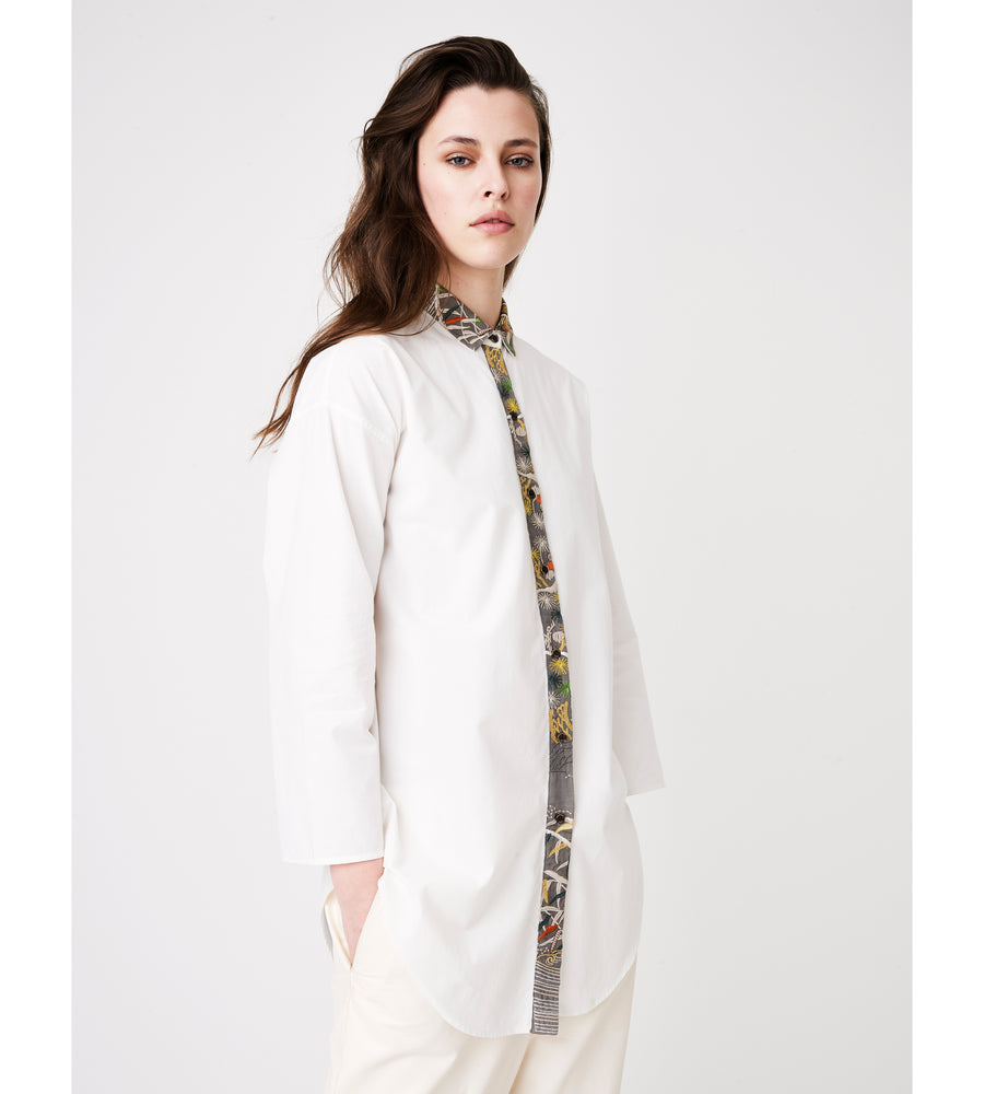 Silvia Giovanardi – Hand Embroidered Organic Cotton & Hemp White Shirt at Amberoot (4)