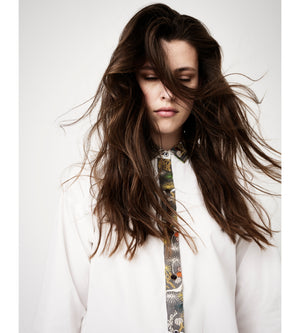 Silvia Giovanardi – Hand Embroidered Organic Cotton & Hemp White Shirt at Amberoot (5)