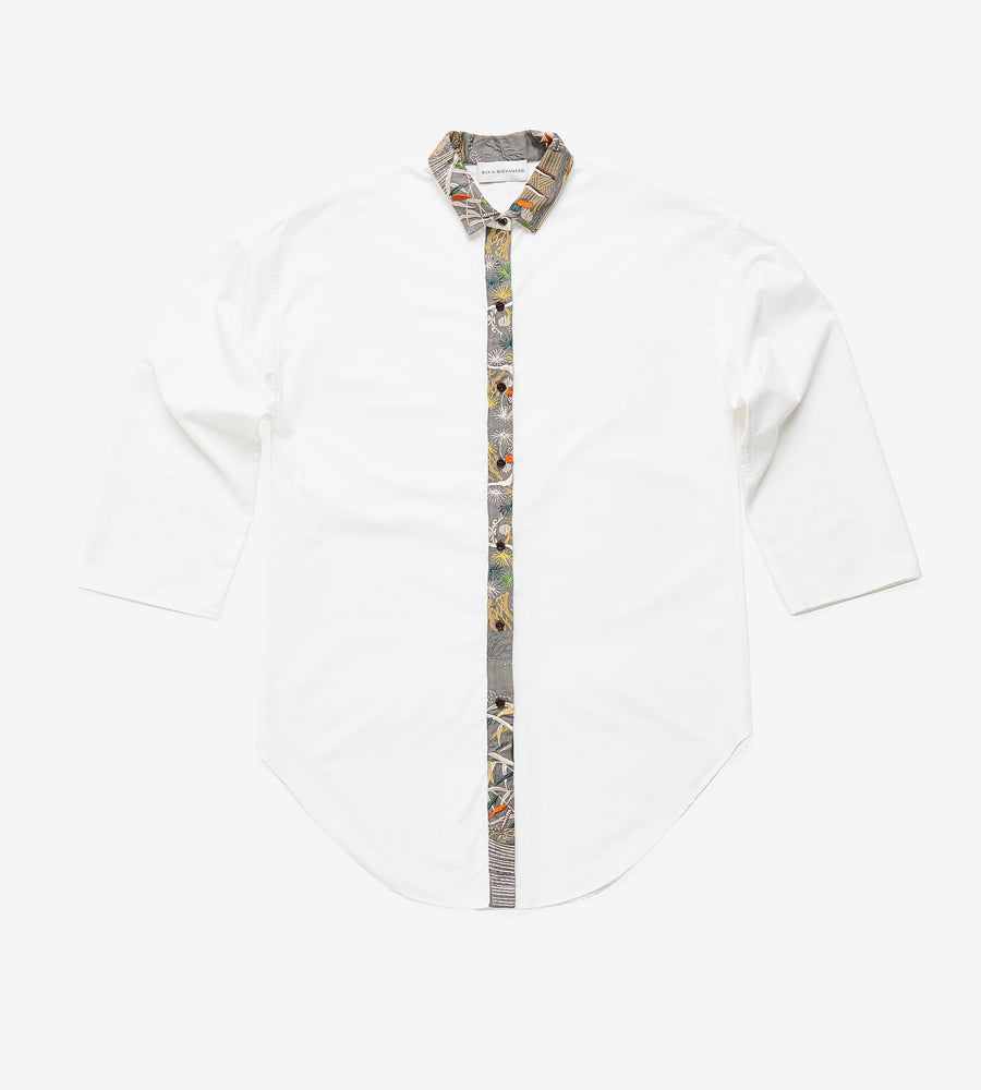 Silvia Giovanardi – Hand Embroidered Organic Cotton & Hemp White Shirt at Amberoot (7)
