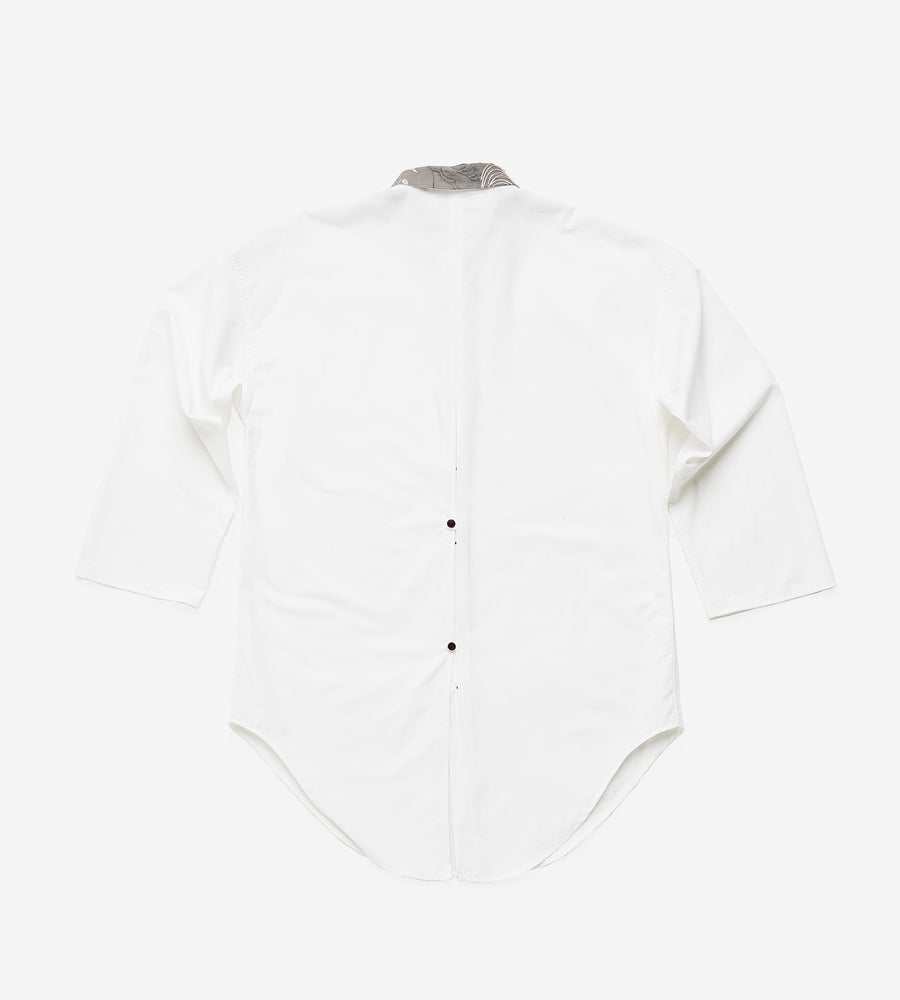 Silvia Giovanardi – Hand Embroidered Organic Cotton & Hemp White Shirt at Amberoot (8)
