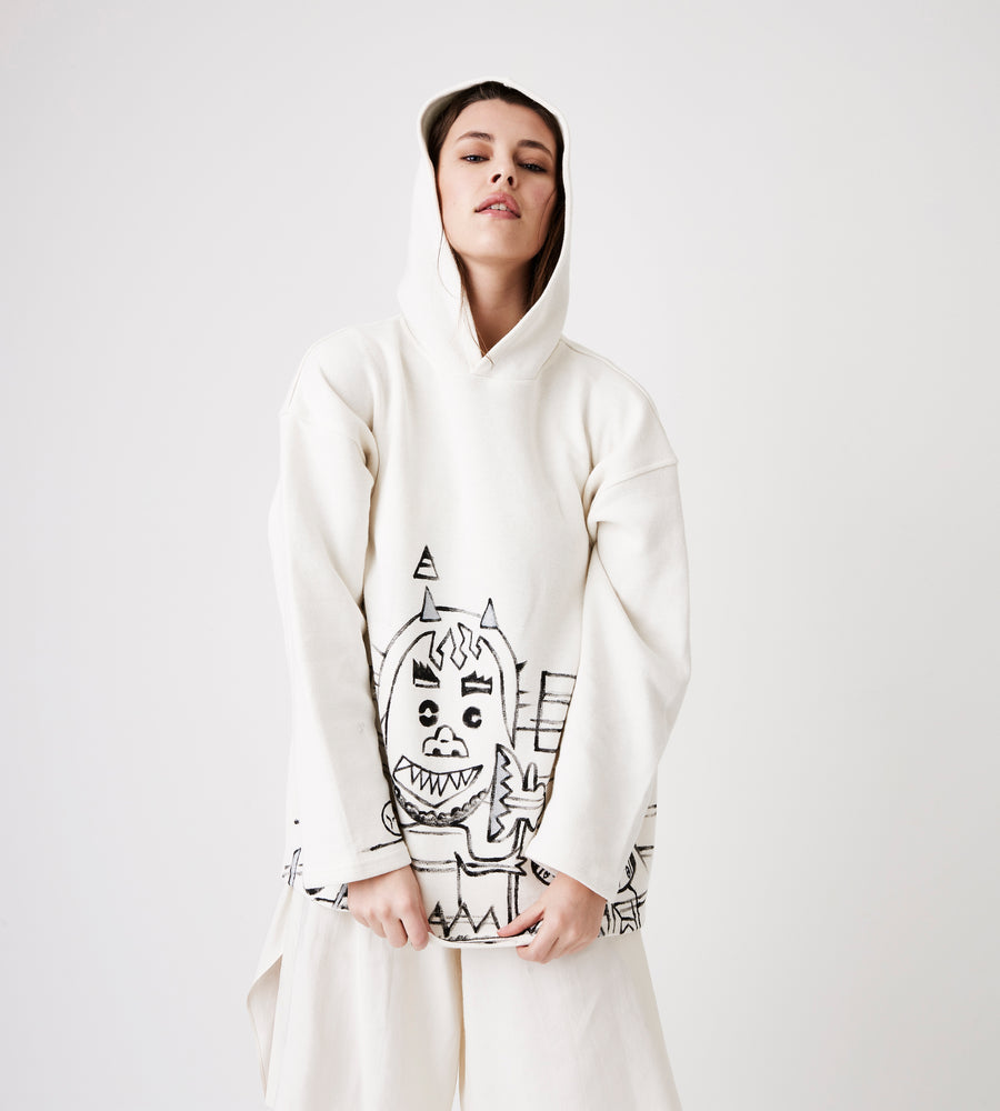 Silvia Giovanardi – Hooded Hemp & Organic Cotton Sweatshirt at Amberoot (4)