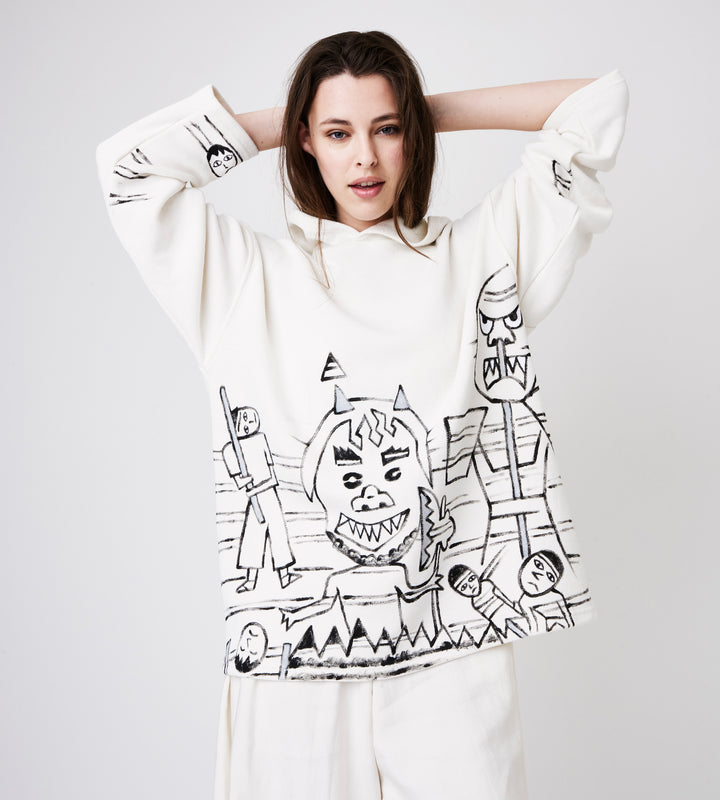 Silvia Giovanardi – Hooded Hemp & Organic Cotton Sweatshirt at Amberoot (6)