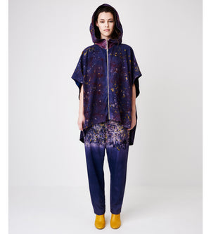 Silvia Giovanardi – Soy Deep Purple Hand Dyed Hooded Jacket at Amberoot (1)