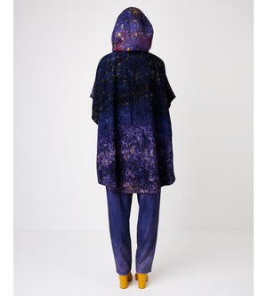 Silvia Giovanardi – Soy Deep Purple Hand Dyed Hooded Jacket at Amberoot (3)