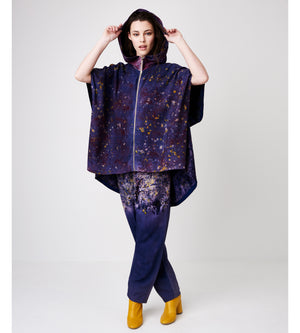 Silvia Giovanardi – Soy Deep Purple Hand Dyed Hooded Jacket at Amberoot (4)