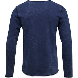KnowledgeCotton Apparel - Indigo Organic Cotton Sweatshirt at Amberoot (2)