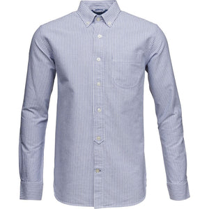 KnowledgeCotton Apparel Light Blue Oxford GOTS Organic Cotton Men's Shirt Amberoot 90103