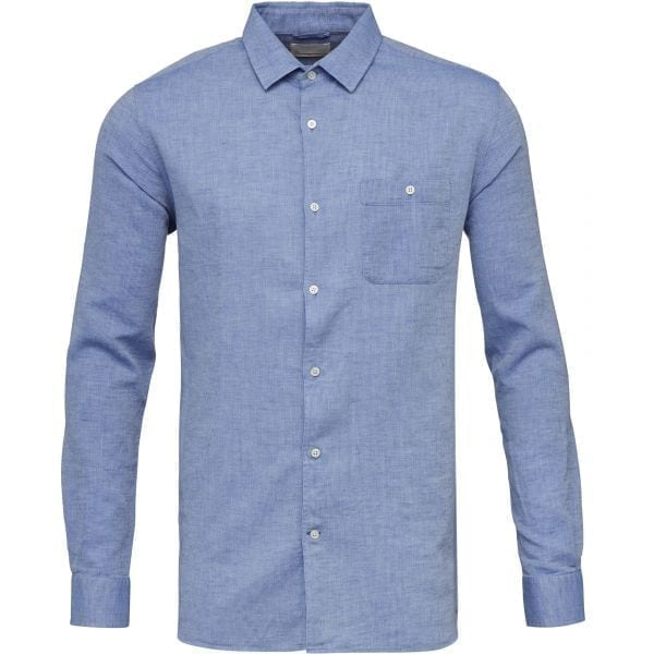 KnowledgeCotton Apparel Organic Cotton and Linen Structured Shirt at Amberoot (3)