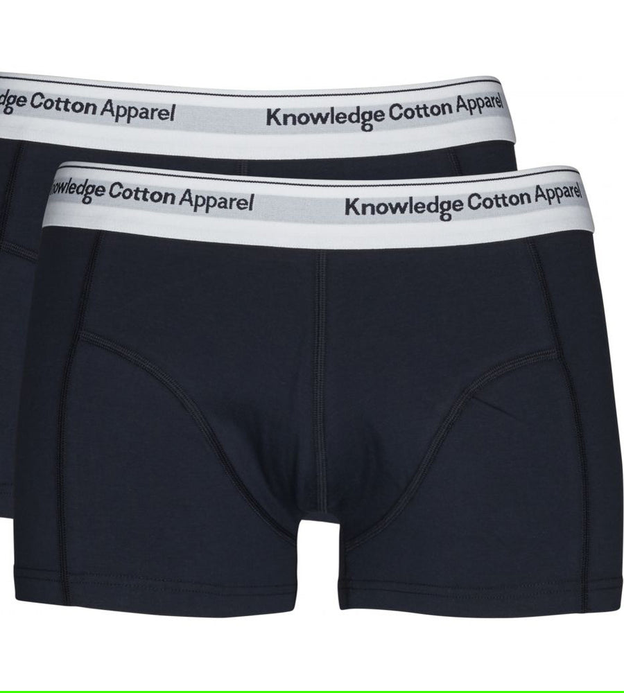 KnowledgeCotton Apparel - Organic Cotton Solid Colour Boxers at Amberoot (1 (1)