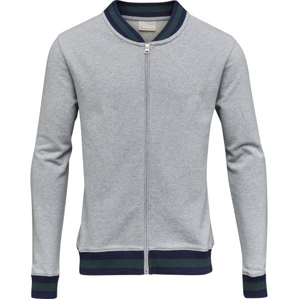 KnowledgeCotton Apparel - Organic Cotton Zip Cardigan at Amberoot (1)