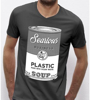 Searious Business - Grey Men T-Shirt - Plastic Soup at Amberoot