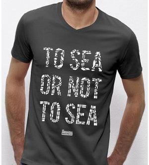Searious Business - Grey Men T-Shirt - To Sea Or Not To Sea at Amberoot
