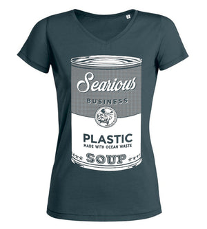 Searious Business - Grey Women T-Shirt - Plastic Soup at Amberoot
