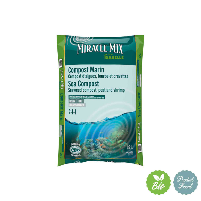Compost marin Miracle Mix - 32 L