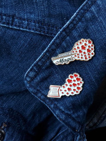 Love for Reading Pin