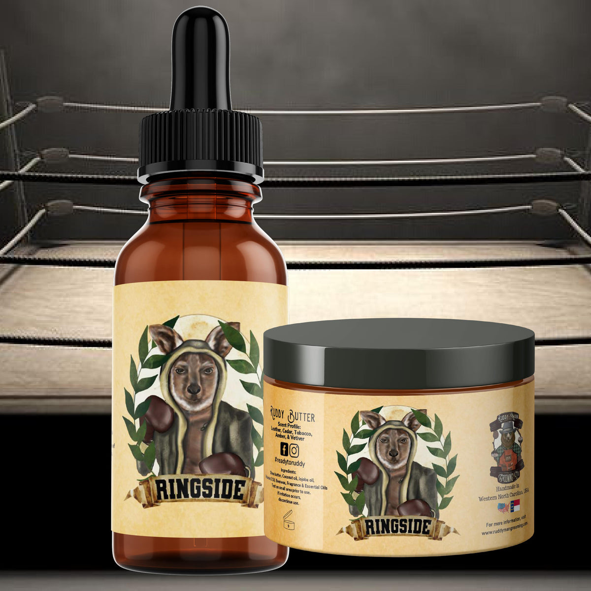 Ringside-A Champion's Beard Oil/Ruddy Butter Duo