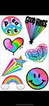 Rainbow Confetti Pen Set