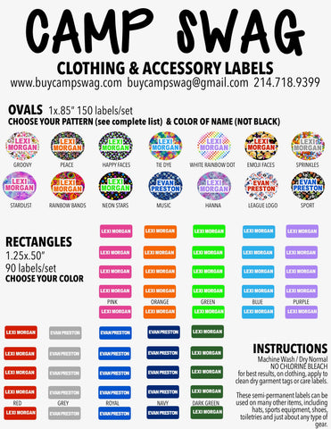 Clothing & Accessory Labels-150 ovals