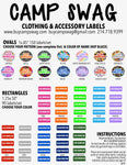 Clothing & Accessory Labels-90 rectangles