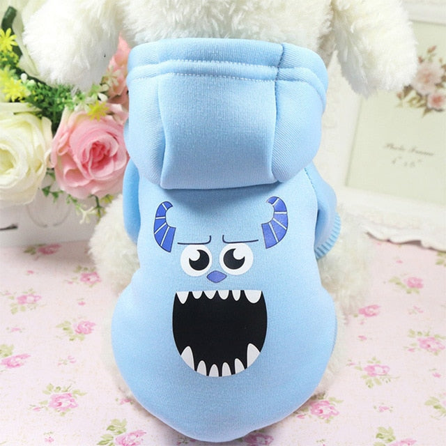 Cartoon Dog Hoodie Pet Dog Clothes For Dogs Coat Jacket Cotton Ropa Perro French Bulldog Clothing For Dogs Pets Clothing Chihua - DESI PANDA