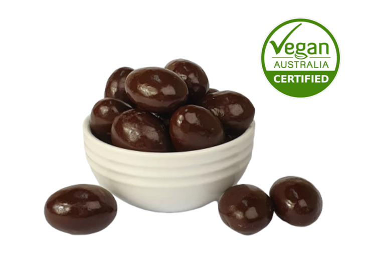 Dark Chocolate Almonds - Vegan